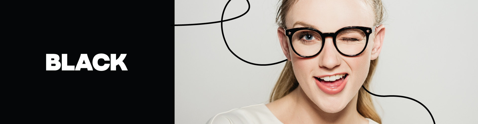 Black frames for prescription glasses