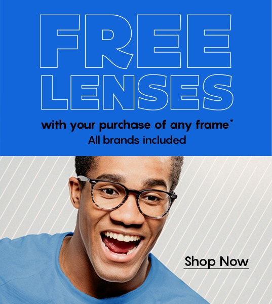 Free standard lenses with every frame!