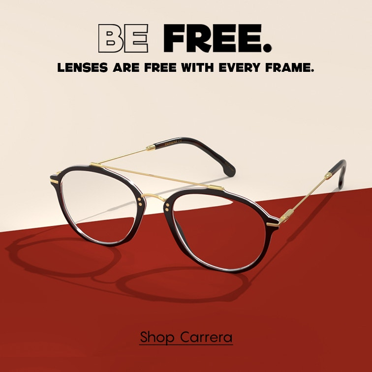 Shop Carrera for the frames you love. Standard lenses are free!