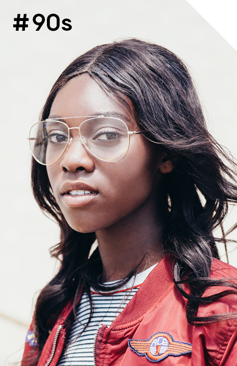 Check out befitting's 90s collection of eyewear - flannel shirts and Doc Marten's not required